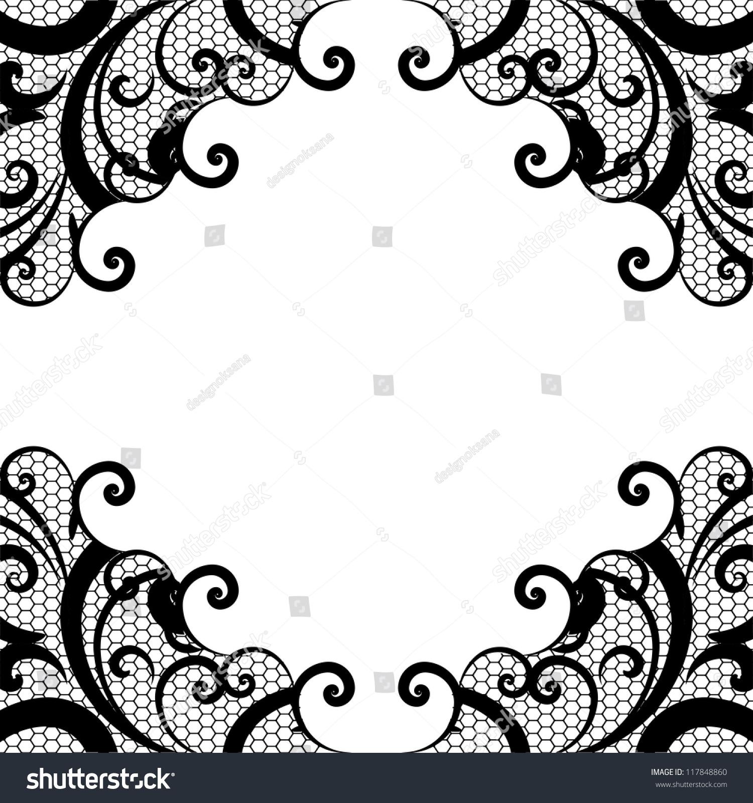 Grunge Halftone Black White Abstract Black