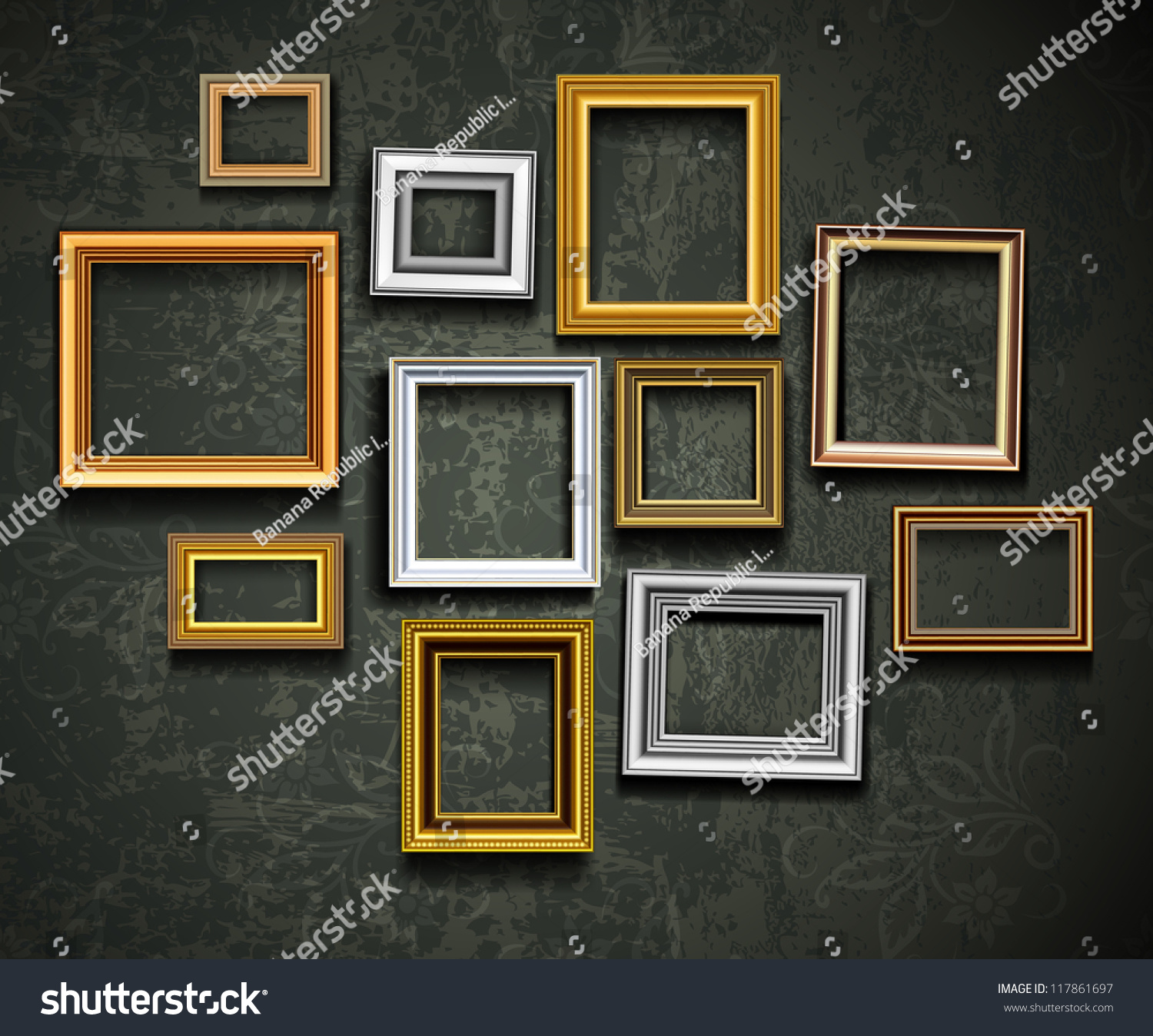 frame vector photo or picture art on vintage wall