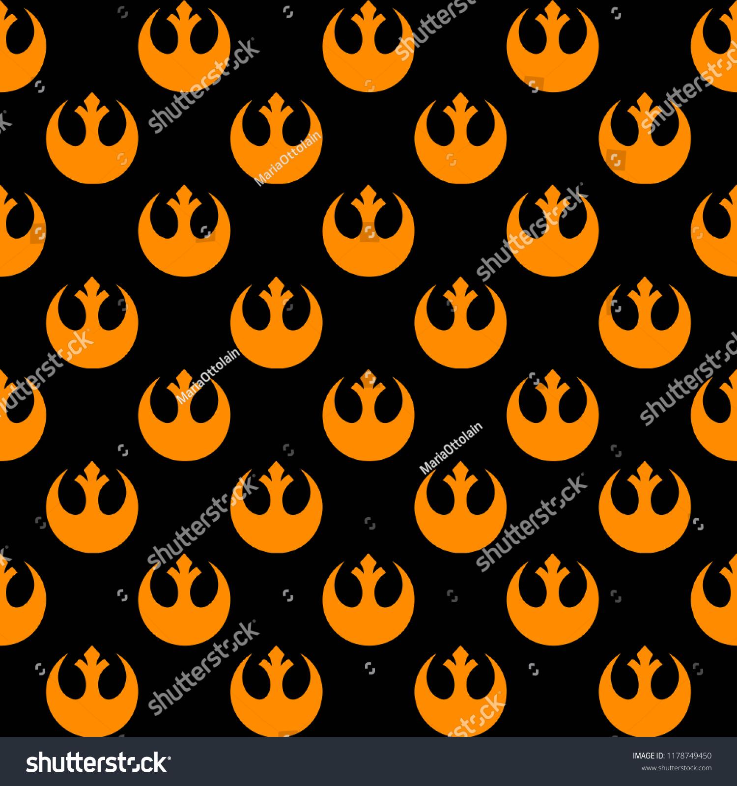 Vector Seamless Pattern Rebellion Star Wars Stock Vector Royalty Free 1178749450