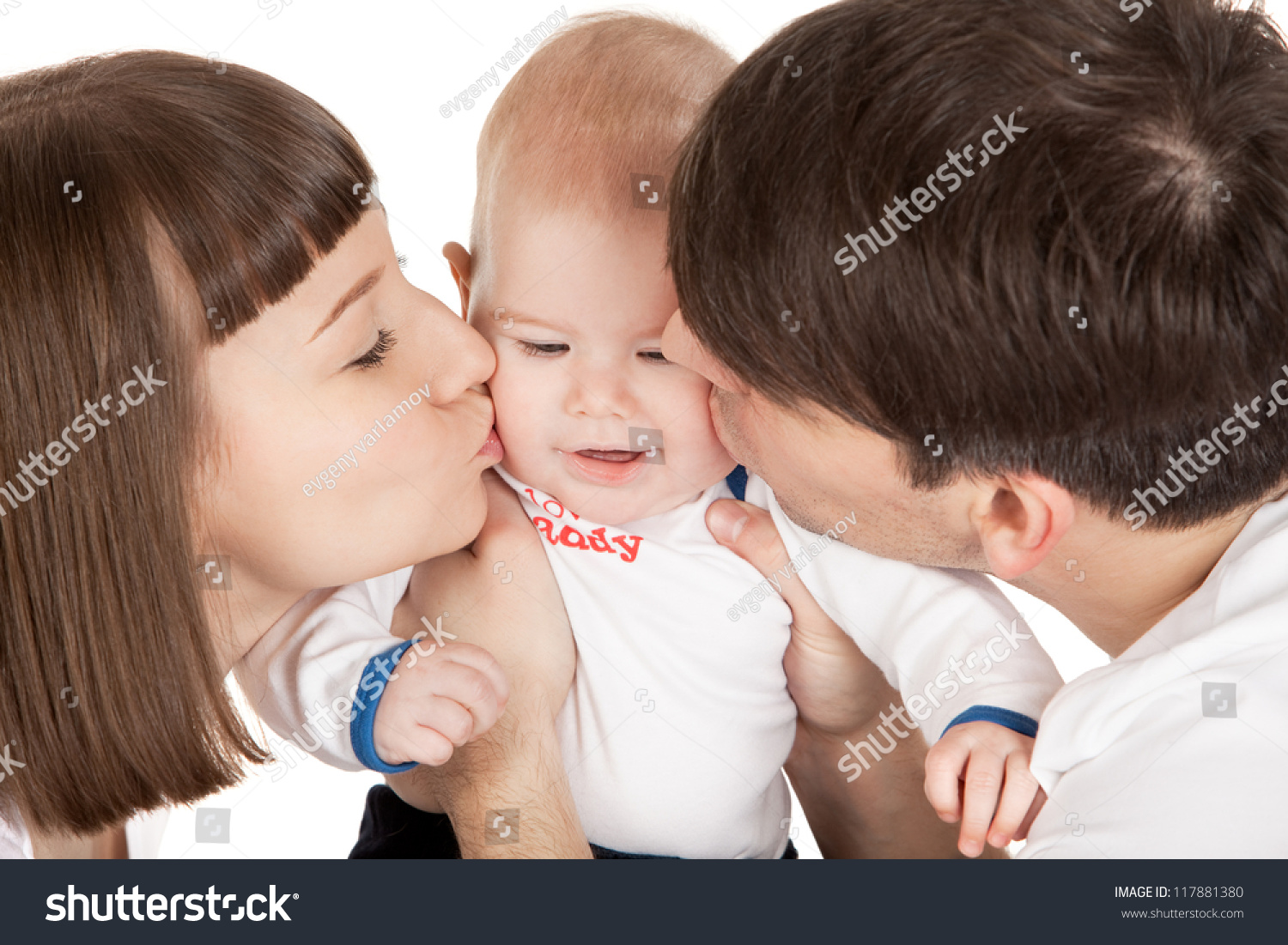 kissing the boy all over