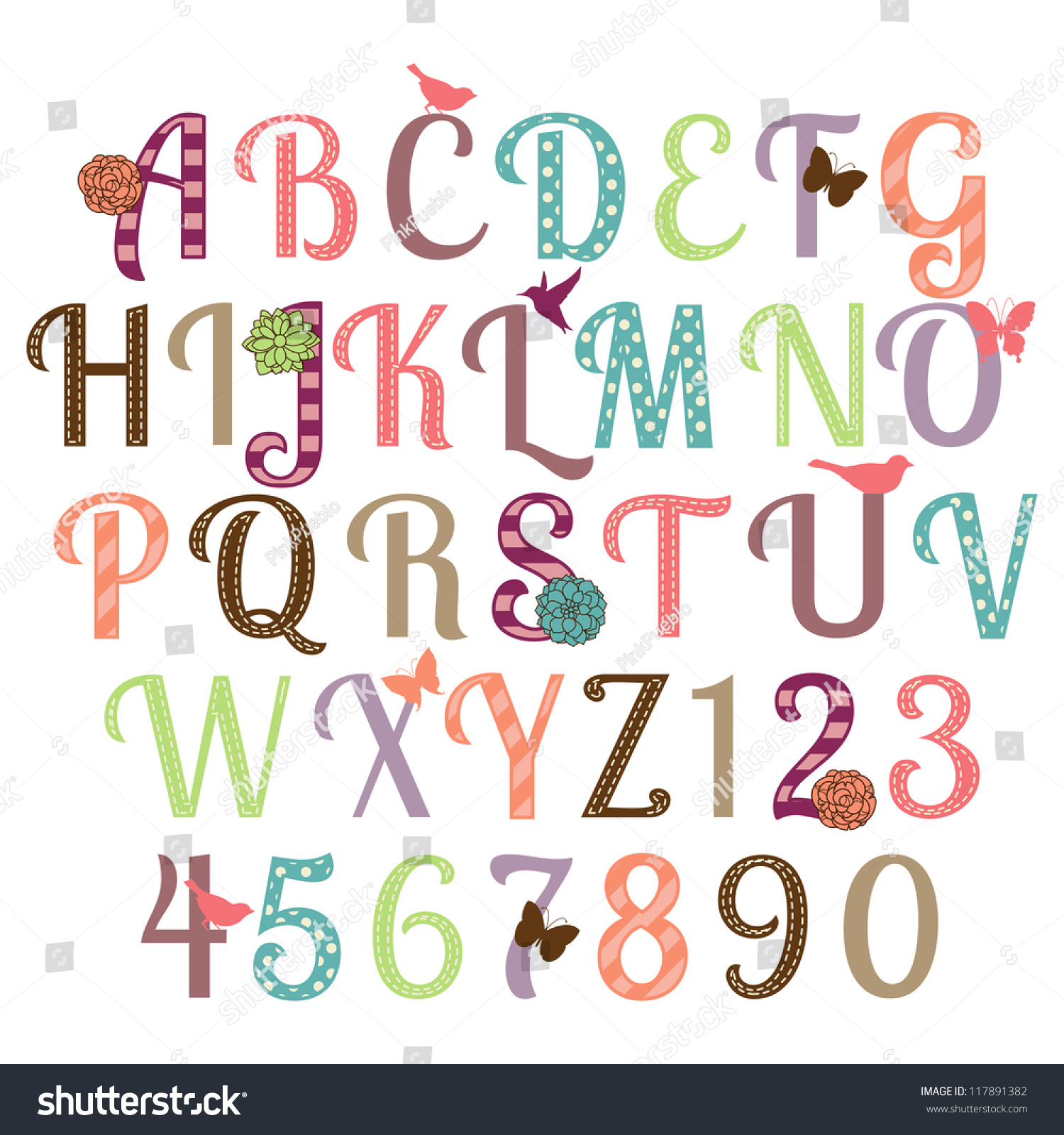 girly letters, the gallery for --> girly font alphabet