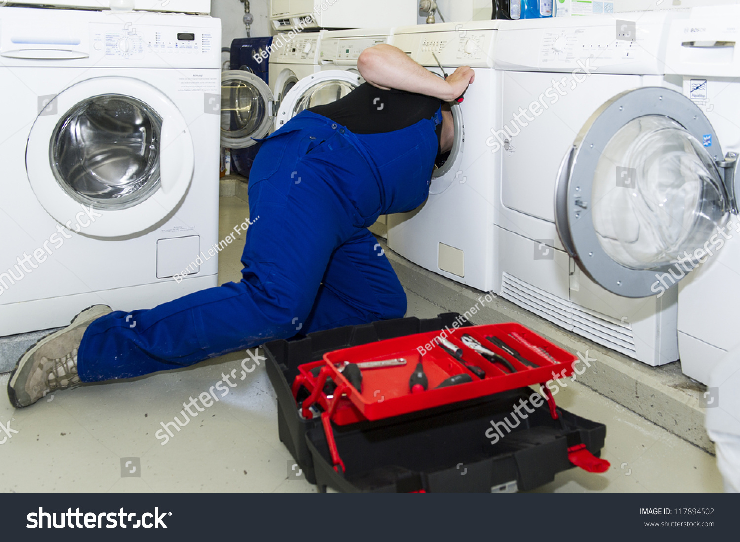 repairing a washing machine
