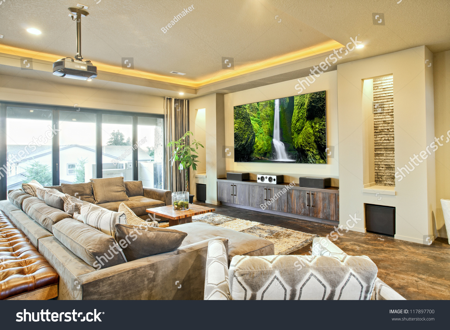 Entertainment Room Luxury Home Stock Photo 117897700