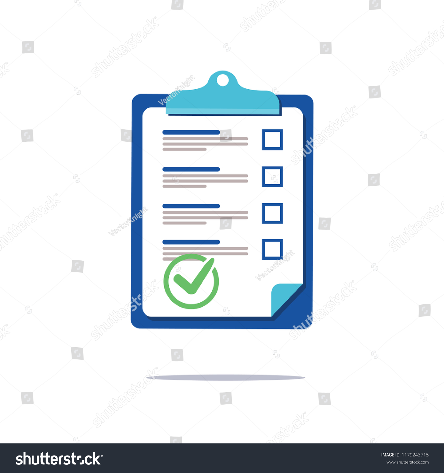 Prenuptial Agreement Document Check List Clipboard Stock Vector