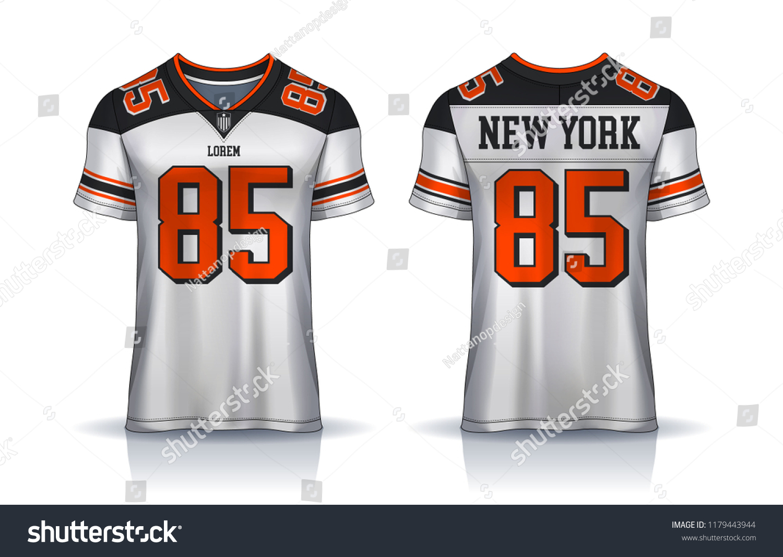 d2514b0a5 American Football Jerseytshirt Sport Design Templateuniform Stock ...