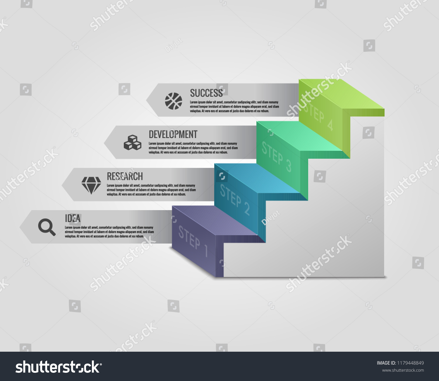 Stairs Infographic Element Illustration. Perfect for Illustrations,  Infographics, Powerpoint Presentations and other Graphics