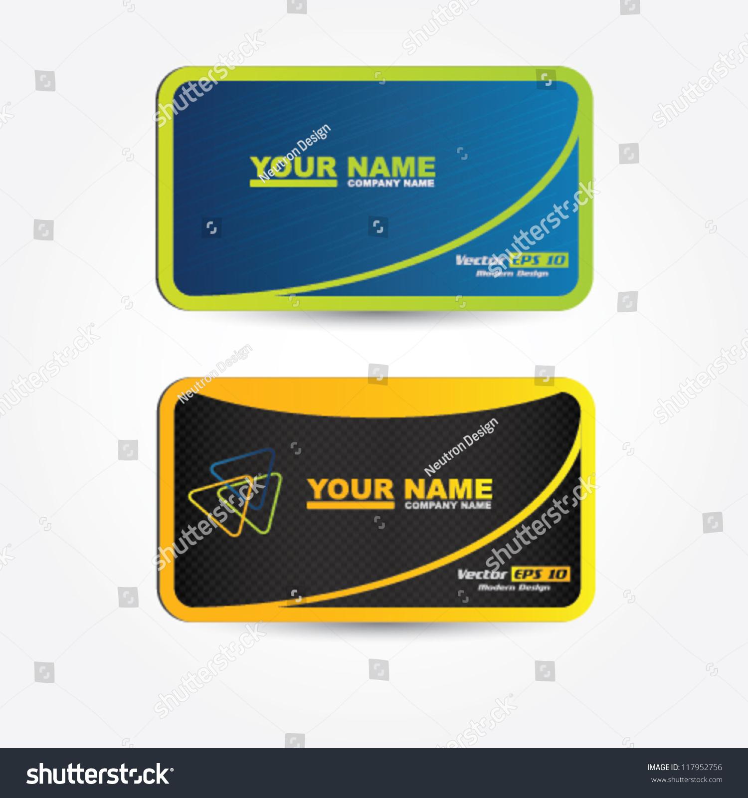 Vector Modern Business Card Design Stock Vector HD (Royalty Free ...