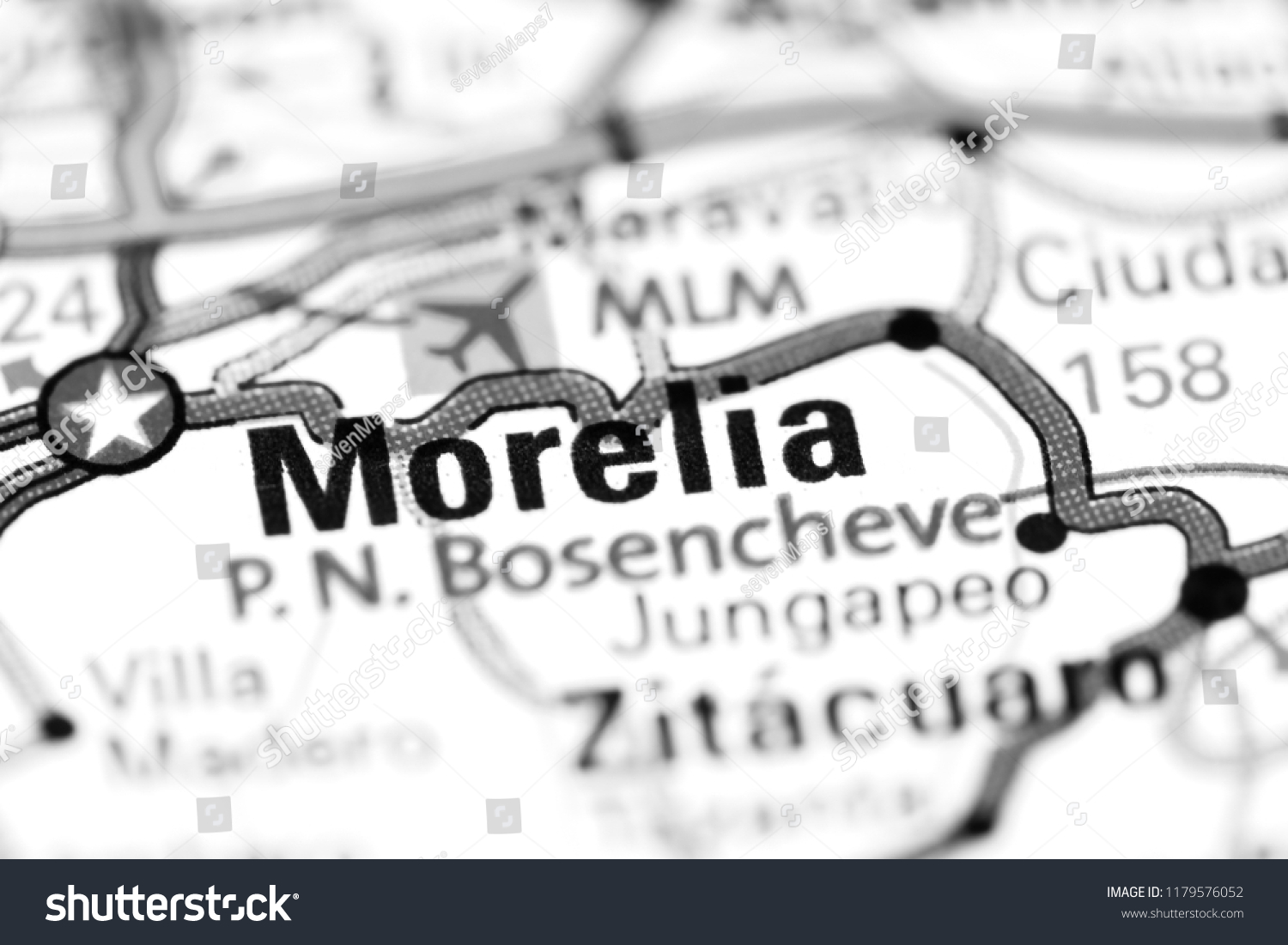 Morelia Mexico On Map Stock Photo Edit Now 1179576052 Shutterstock