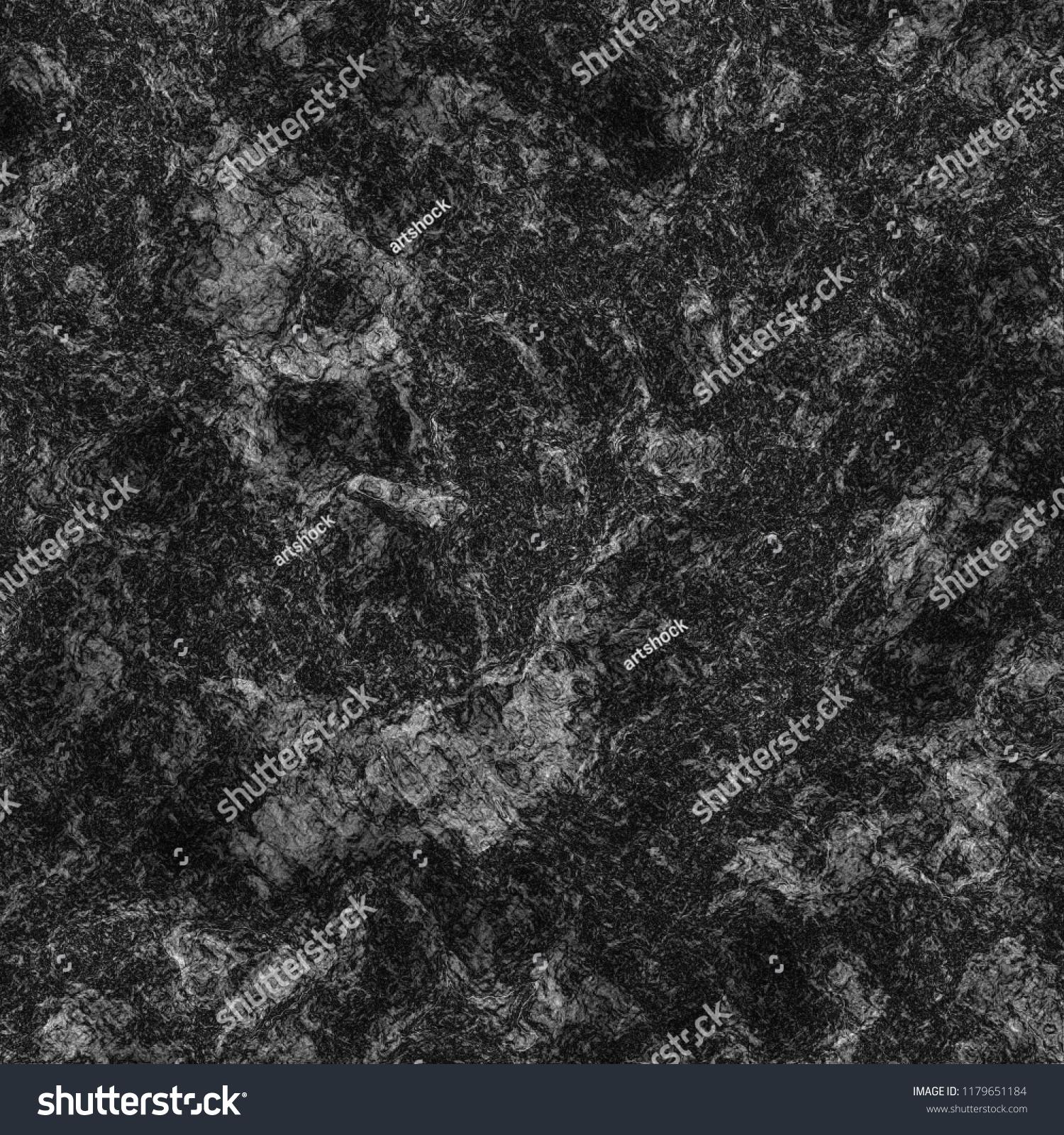 Rough Black Stone Texture Grunge Generated Stock Illustration 1179651184