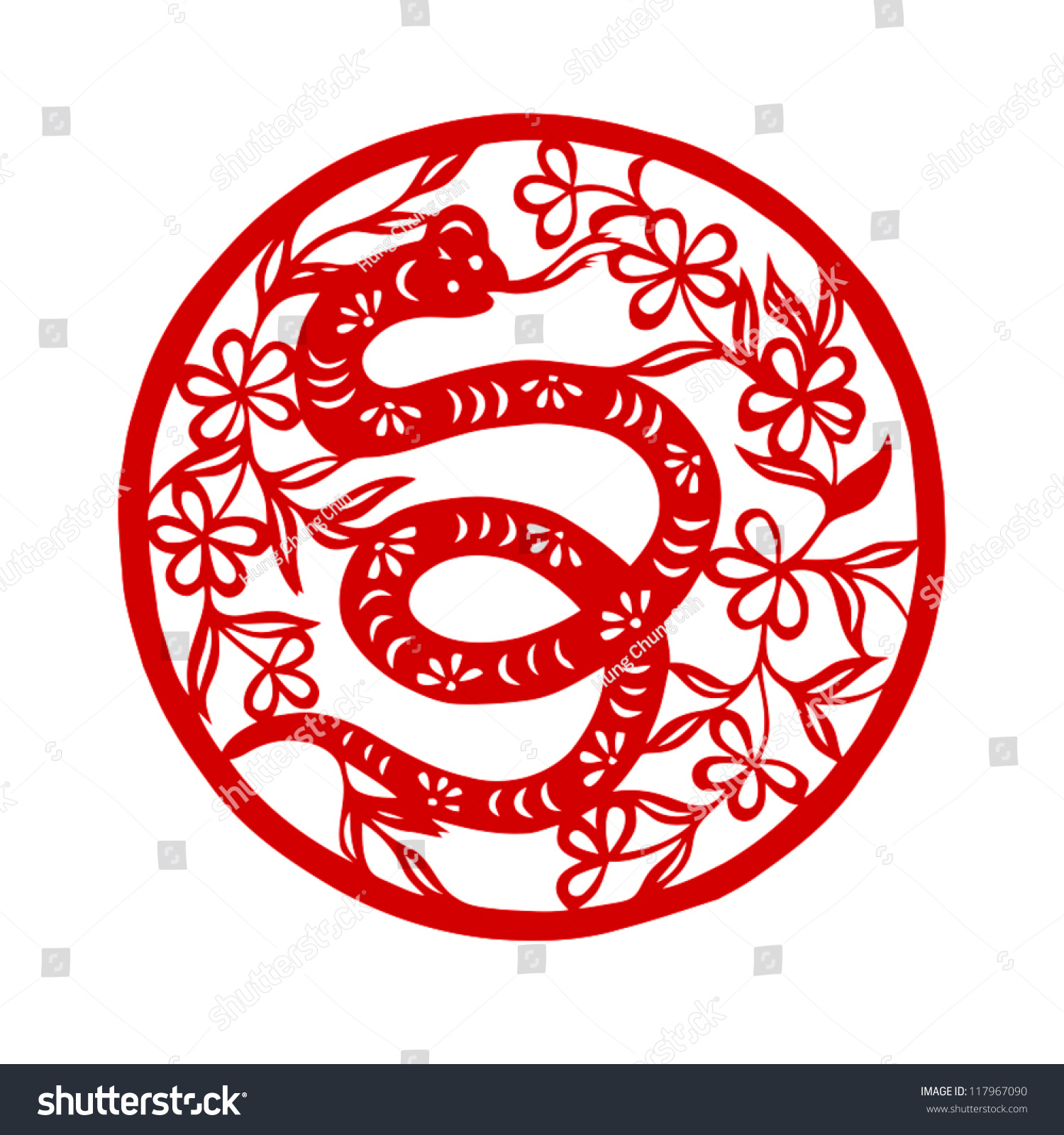 Happy Chinese New Year 2013 : Year Of The Snake (Vector ...