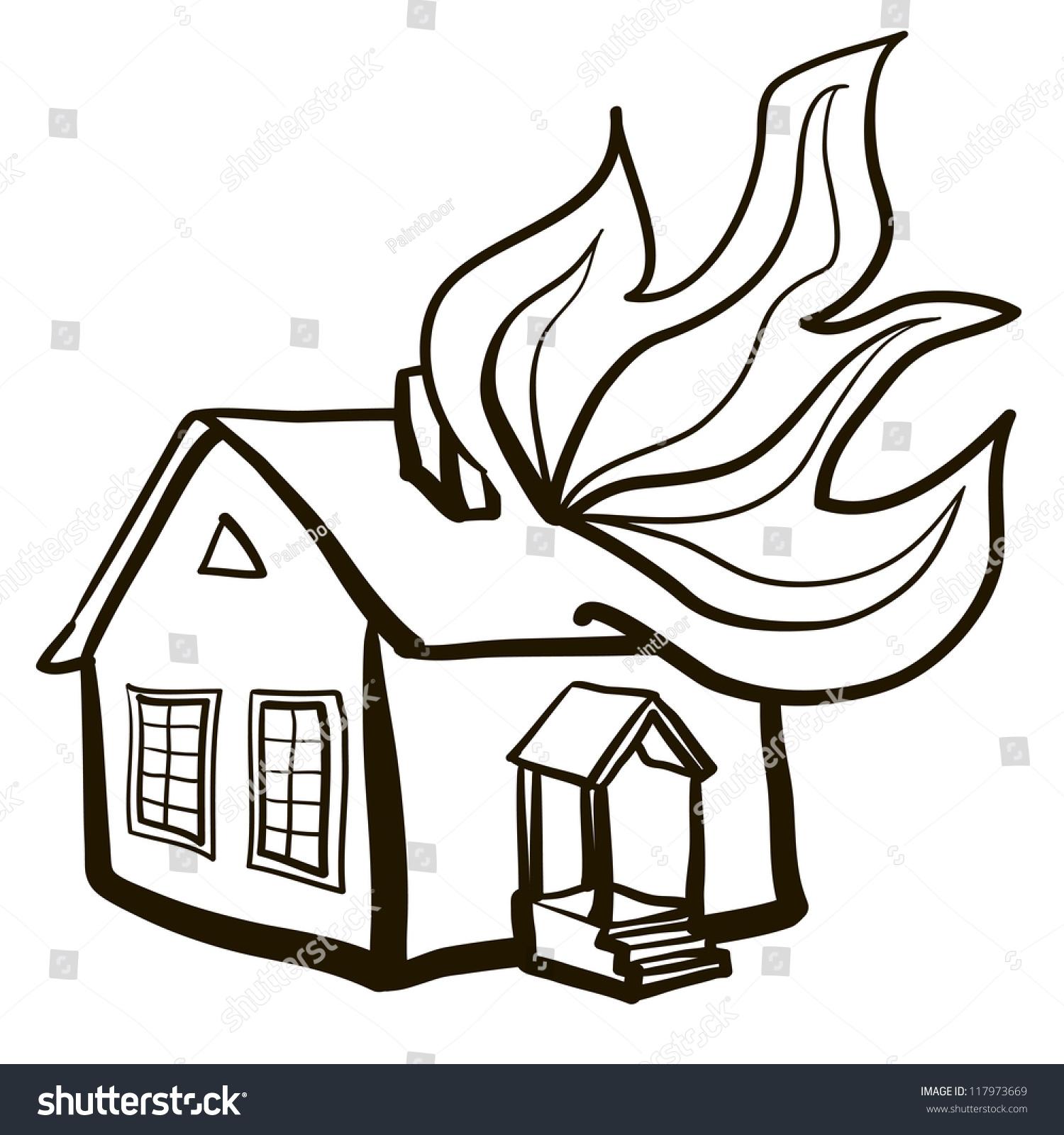 clipart burning house - photo #10