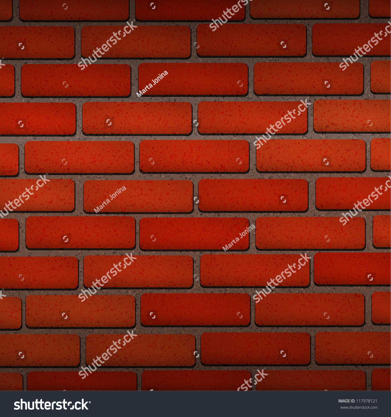 Vector Red Brick Texture Wallpaper Stock Vector