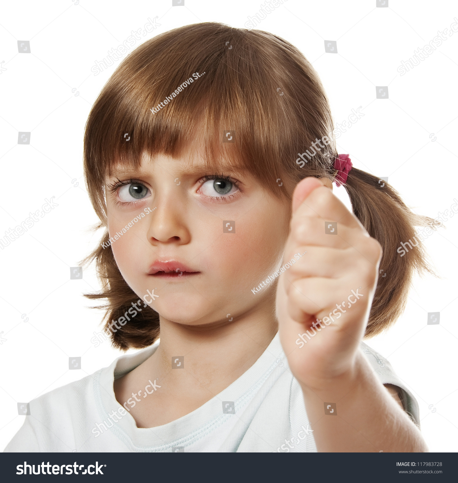 An Angry Little Girl Stock Photo 117983728 : Shutterstock