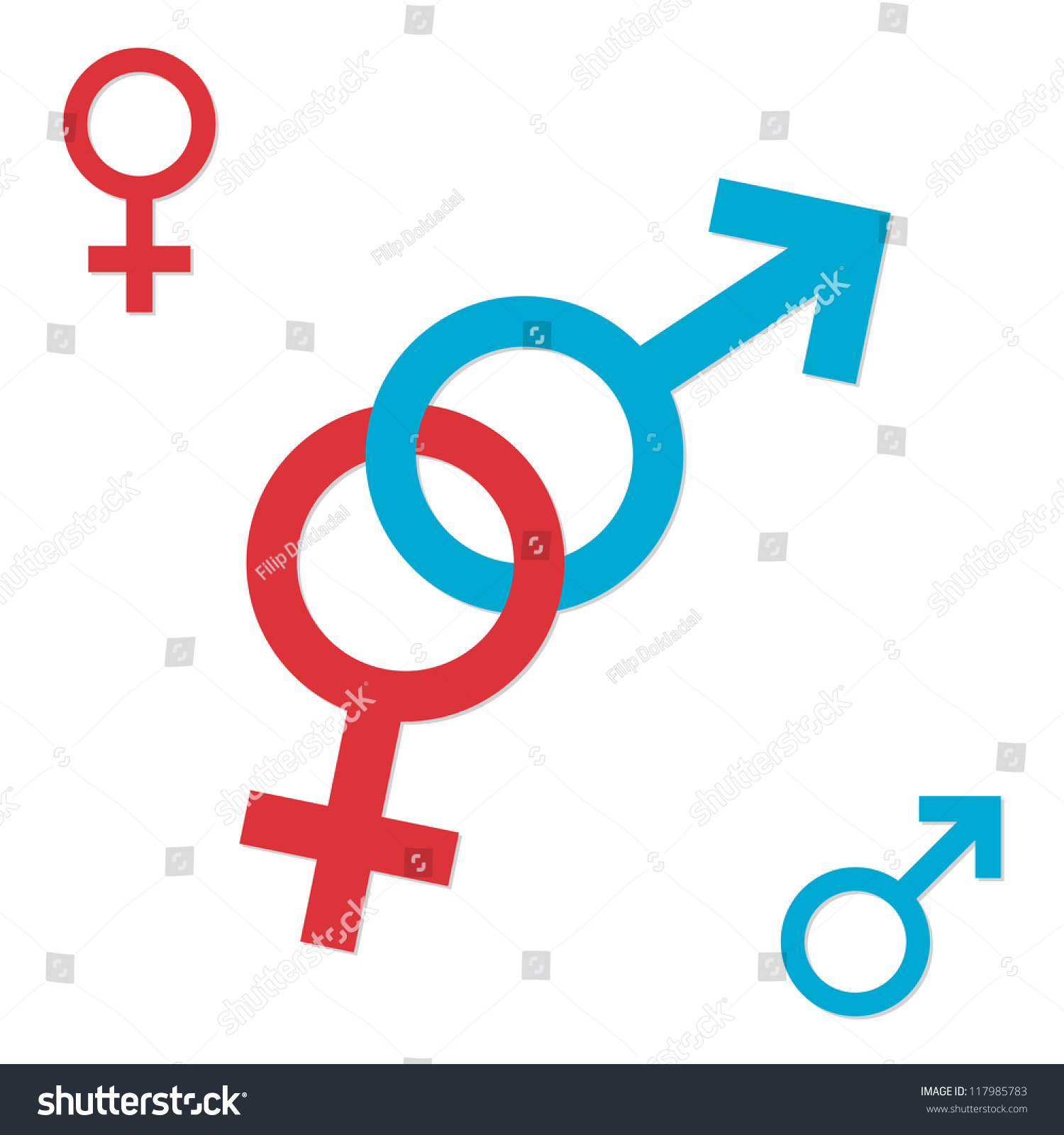 Men And Women Vector Sex Symbols - 117985783  Shutterstock-2847