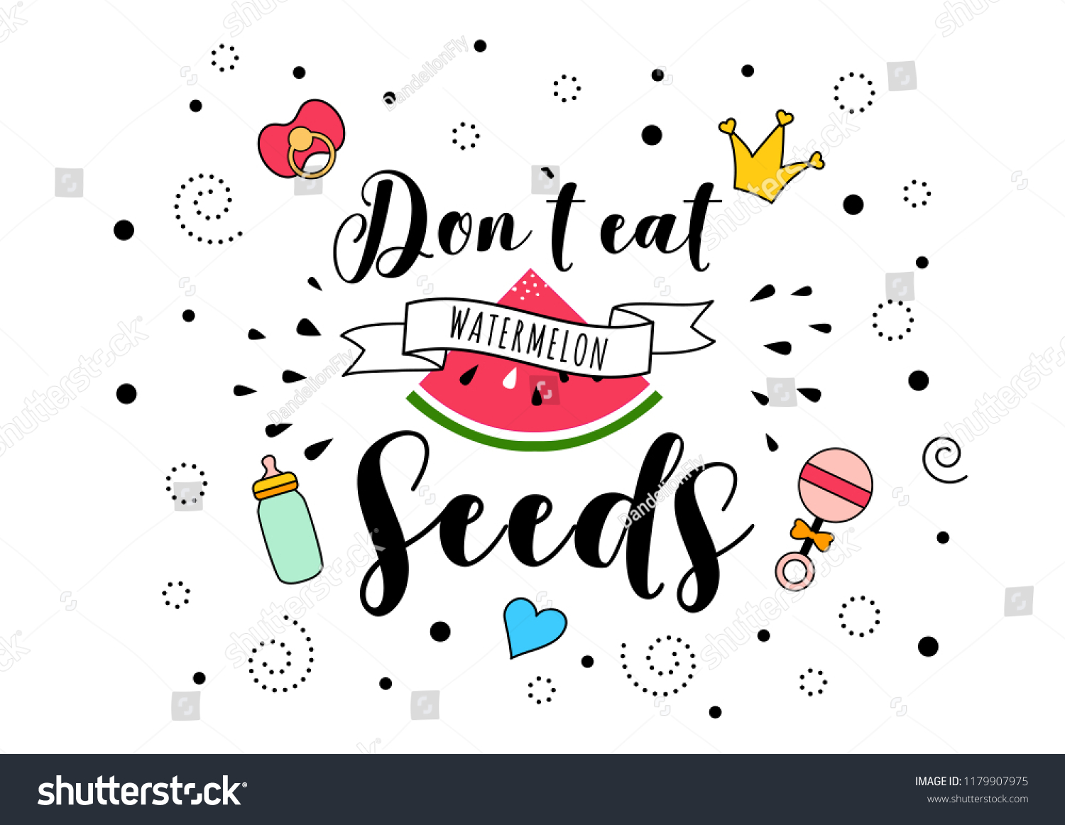 Dont Eat Watermelon Seeds Mother Mama Stock Illustration Royalty