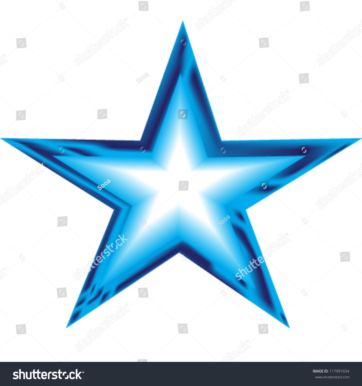 Blue Star Illustration Stock Vector 117991654 - Shutterstock
