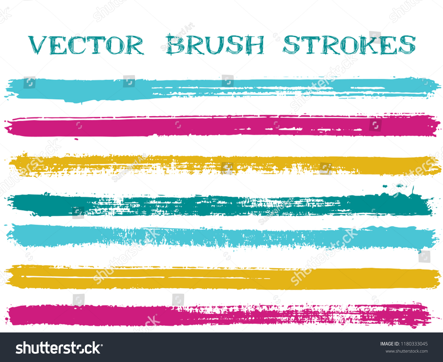 403c65de5385 Funky ink brush strokes isolated design elements. Set of paint lines. Urban Ink  brushes stripes isolated on white
