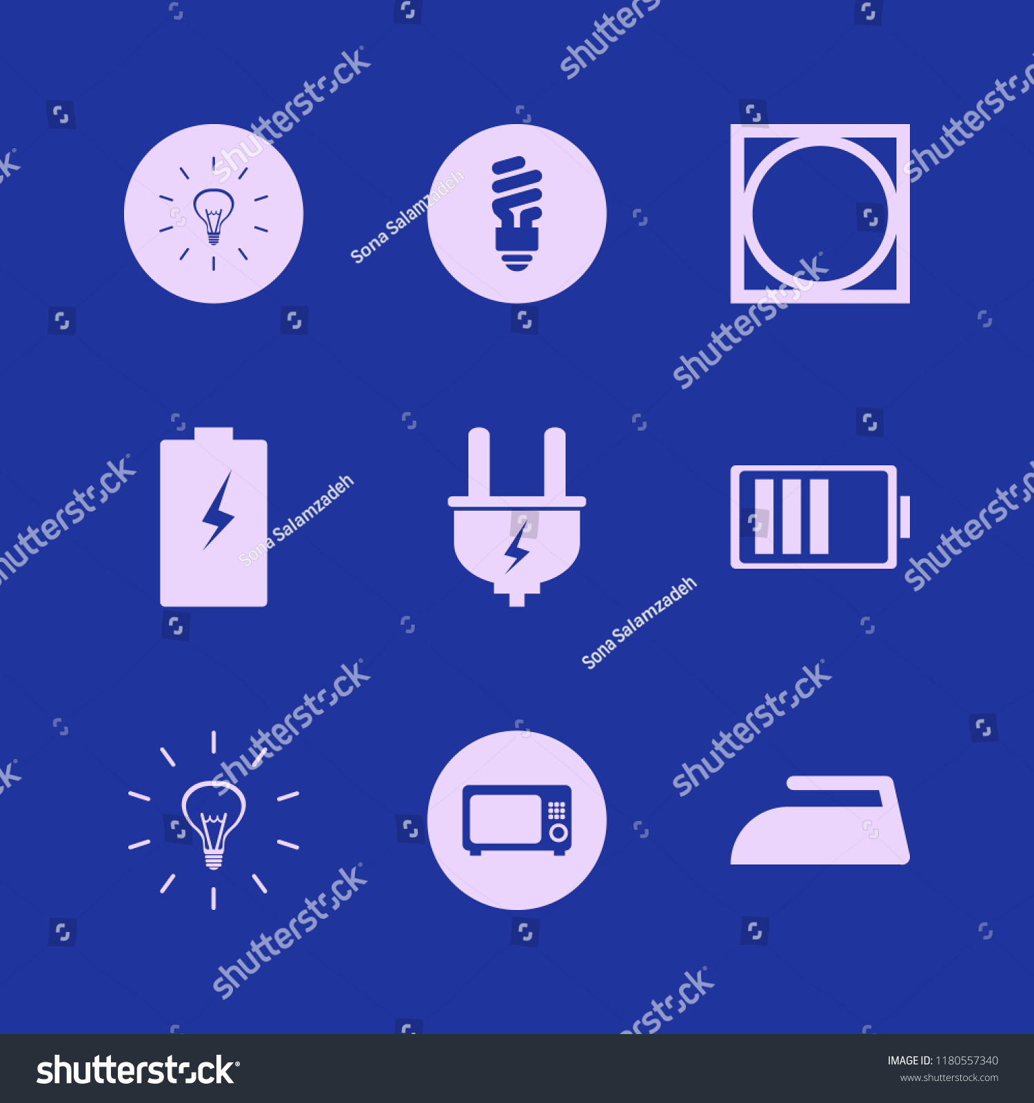 Electrical Icon Electrical Vector Icons Set Stock Vector