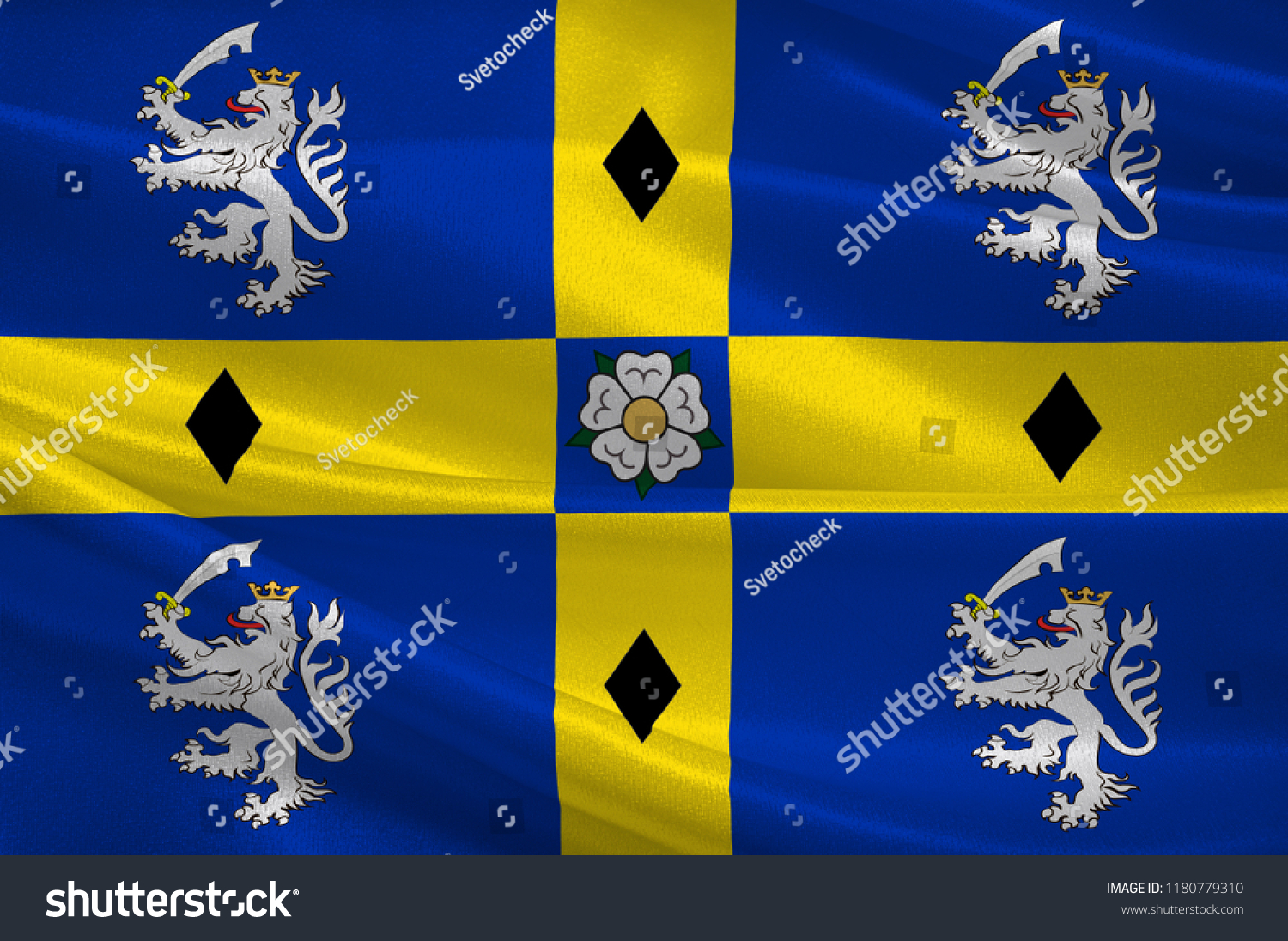 Flag Durham County North East England Stock Illustration 1180779310