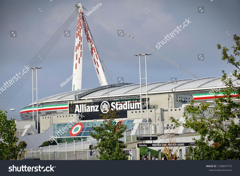 Turin Italy September 2018 Outside Juventus Buildings Landmarks Stock Image 1180847773