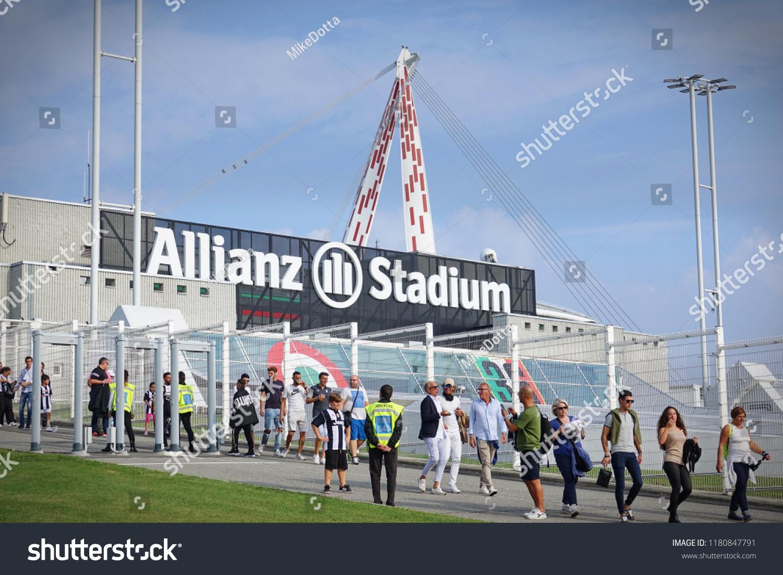 Turin Italy September 2018 Outside Juventus Stock Photo Edit Now 1180847791