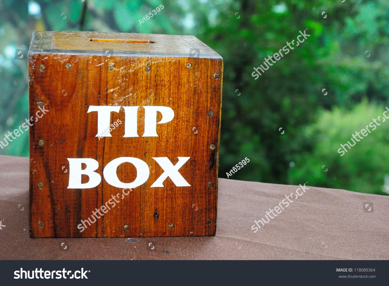 Wooden tip box
