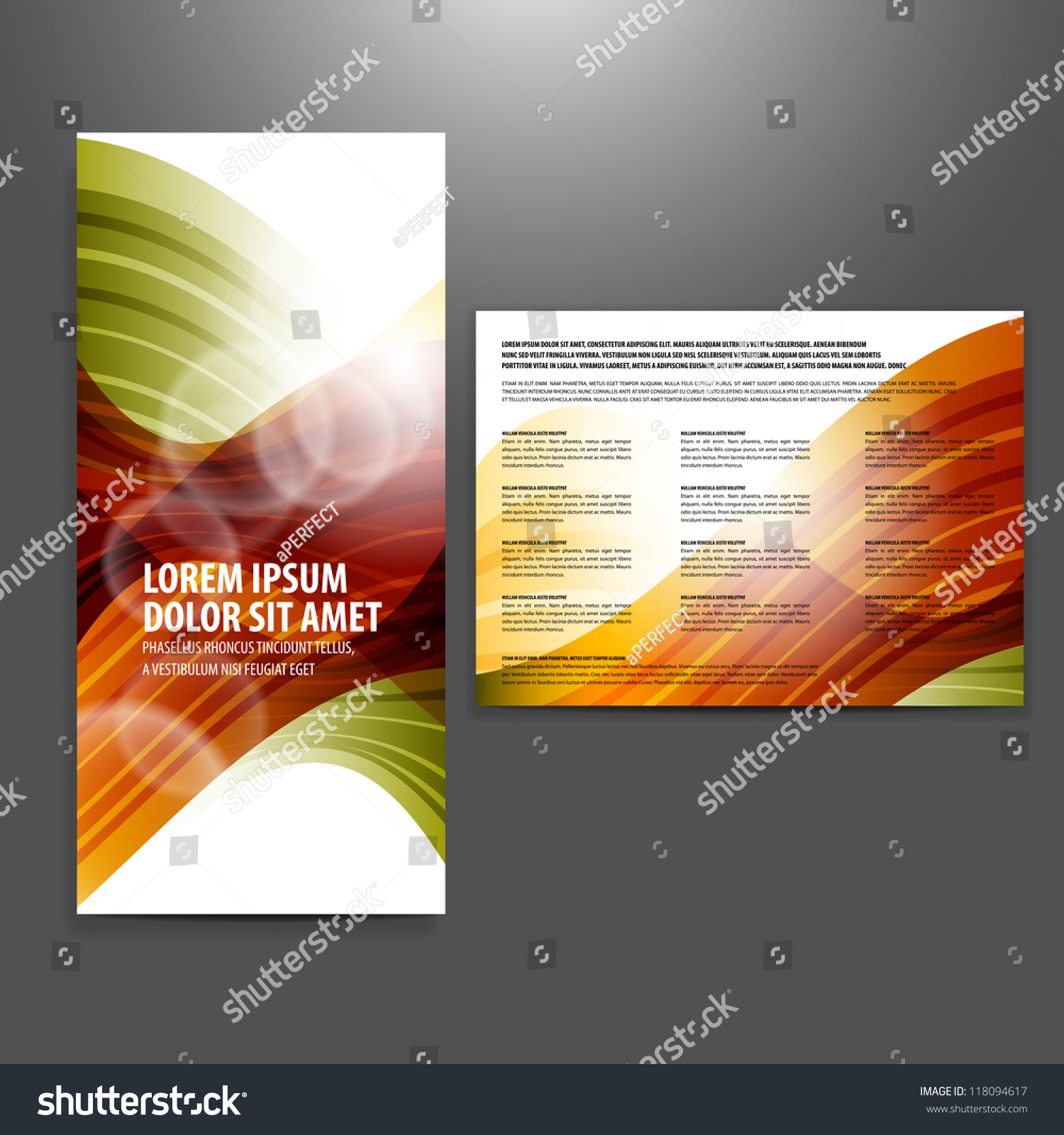 Tri fold business brochure template stock vector 118094617 for Tri fold business brochure template