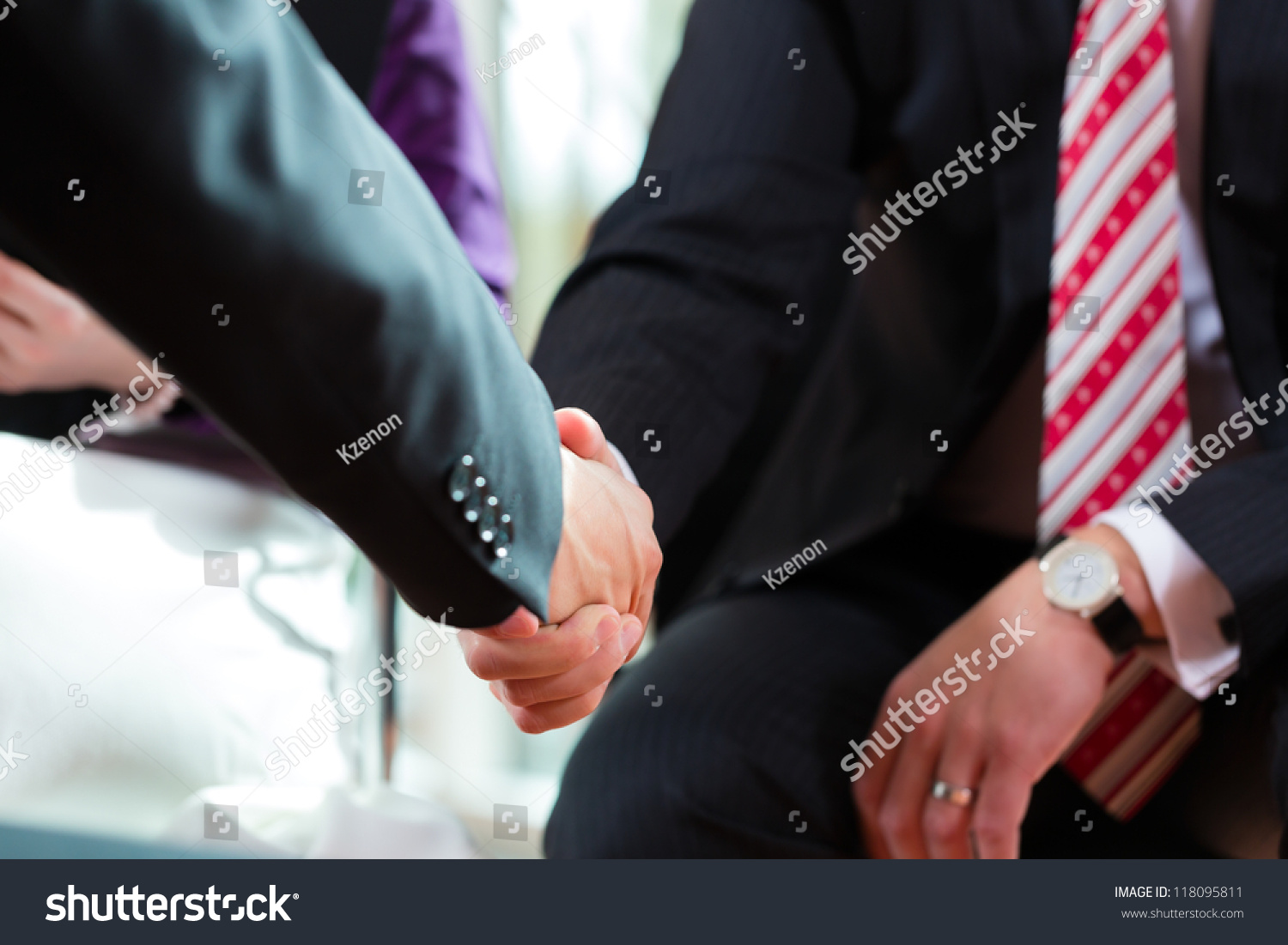 man shaking hands manager job interview stock photo 118095811