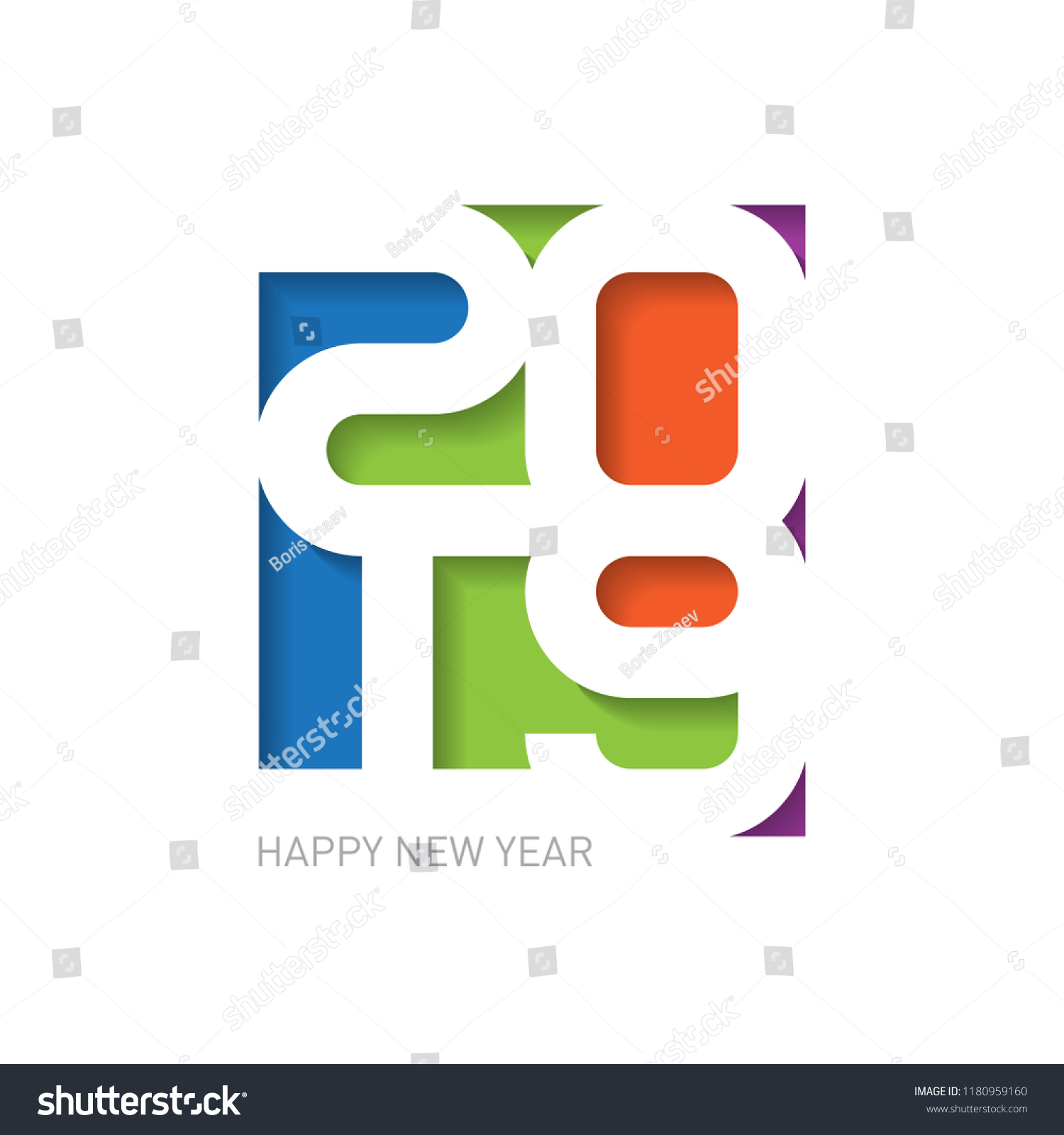 2019 Happy New Year Creative Design Stock Vector Royalty Free