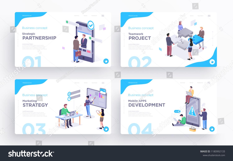 presentation slide templates hero banner images stock vector