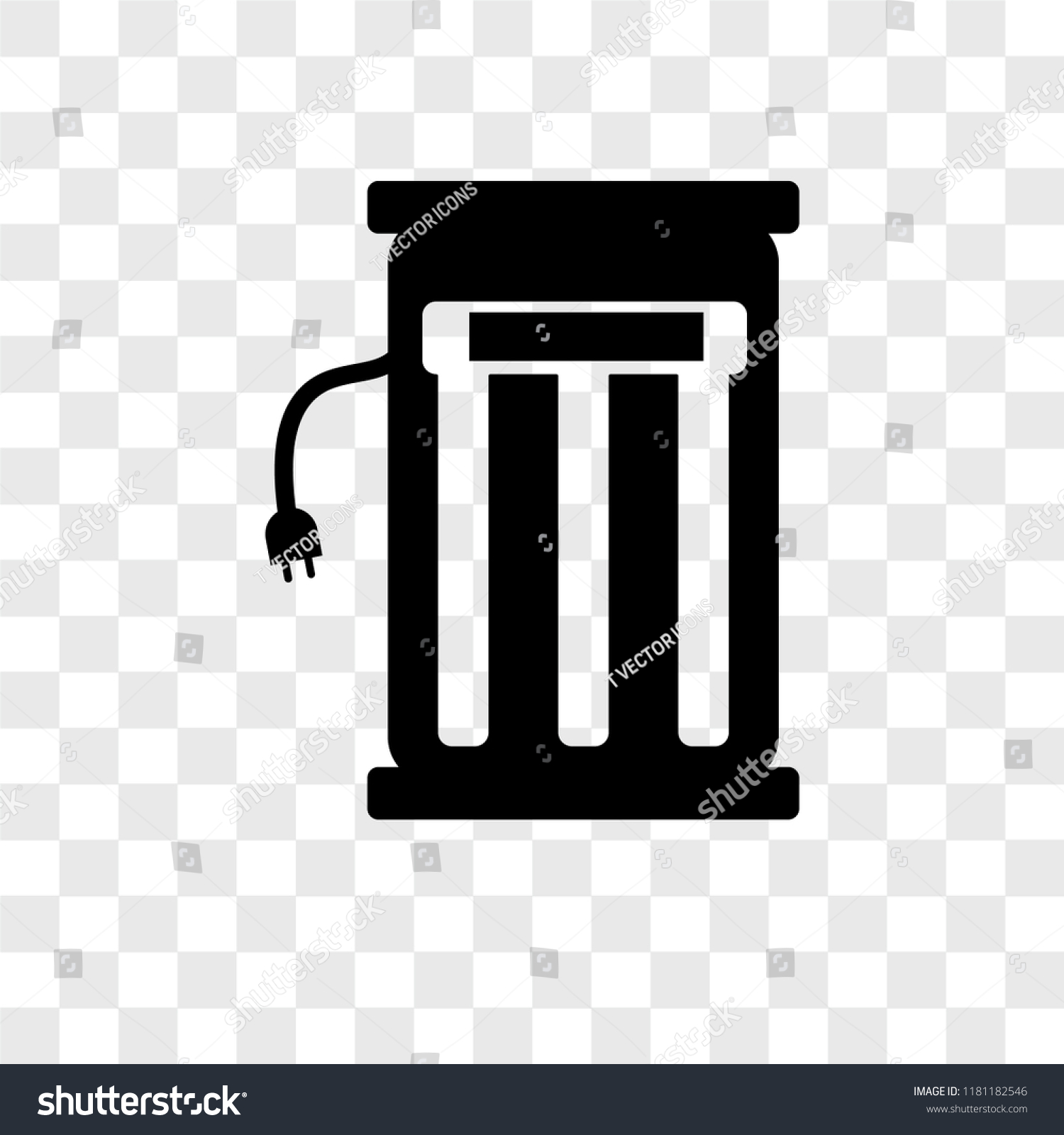 Electric Station Vector Icon Isolated On Stock Vector