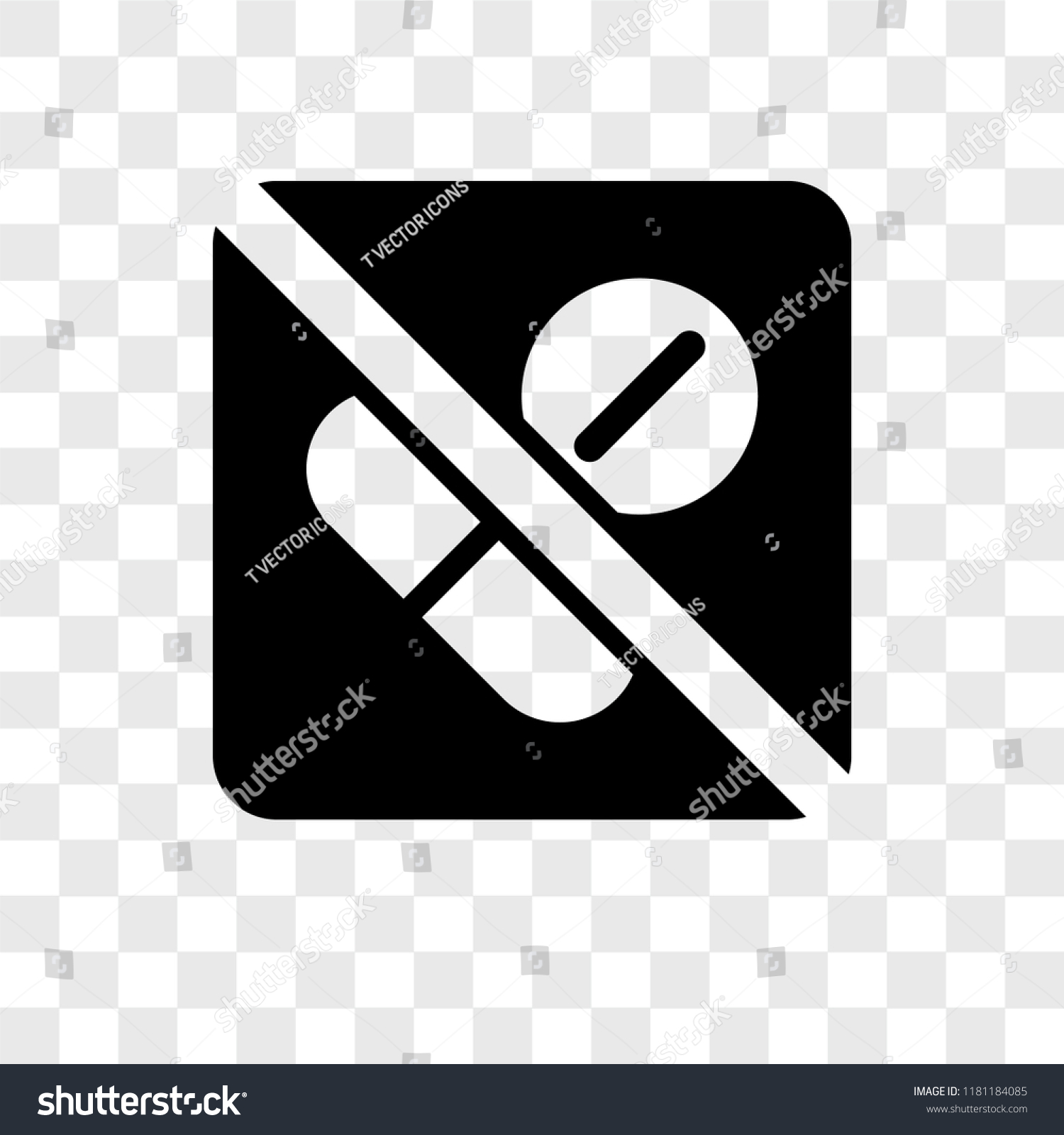 no drugs vector icon isolated on stock vector royalty free 1181184085 shutterstock