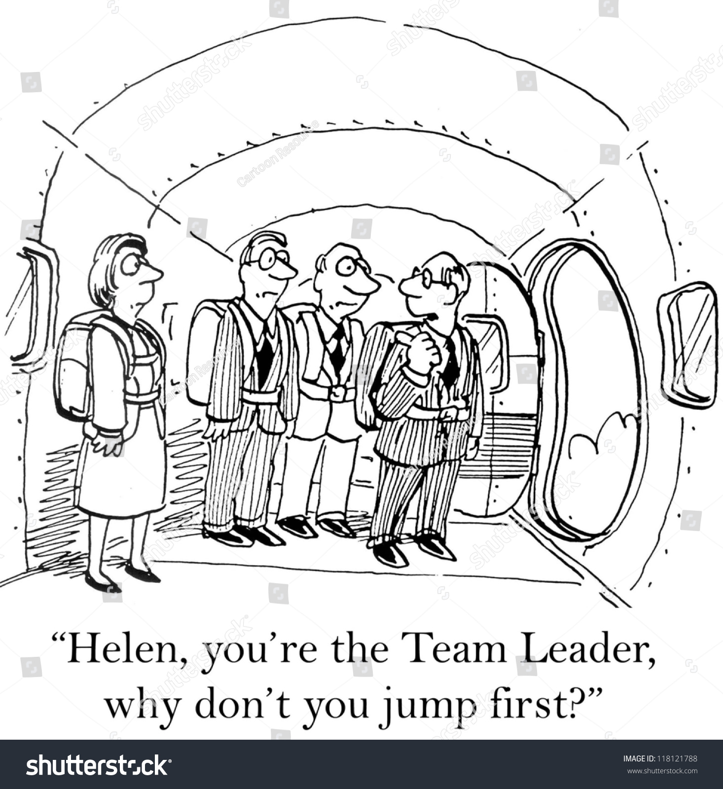 helen youre team leader why dont stock illustration 118121788 helen you re the team leader why don t you jump