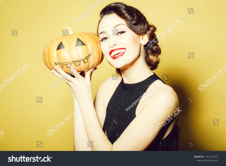 Smiling Woman Beautiful Face Retro Hairdo Stock Photo Edit Now