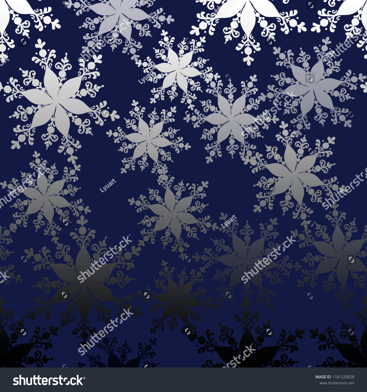 seamless pattern with snowflakes for backgrounds textil design wallpapers hand drawing watecolor