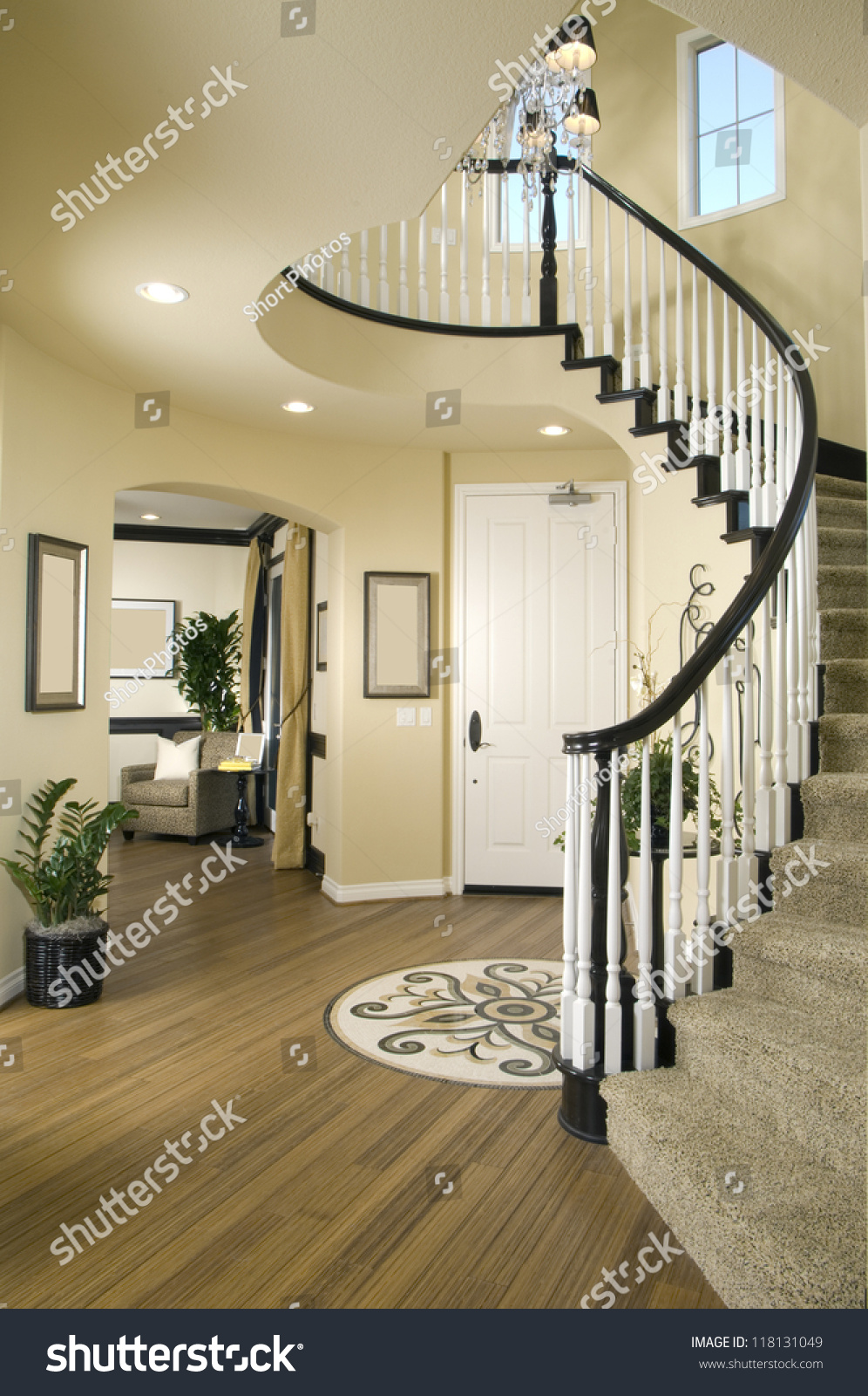 Beautiful Entry Staircase This Luxury Stairway Entry Architecture Stock  Images, Photos Of Staircase, Living