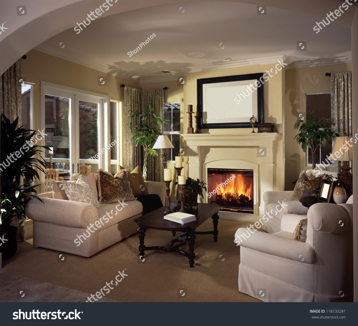 Beautiful Living Rooms: Beautiful Living Room Architecture Stock Images, Photos Of