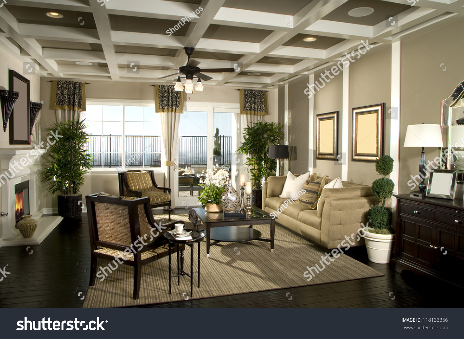 Beautiful Living Room Architecture Stock Images Stock Photo ...