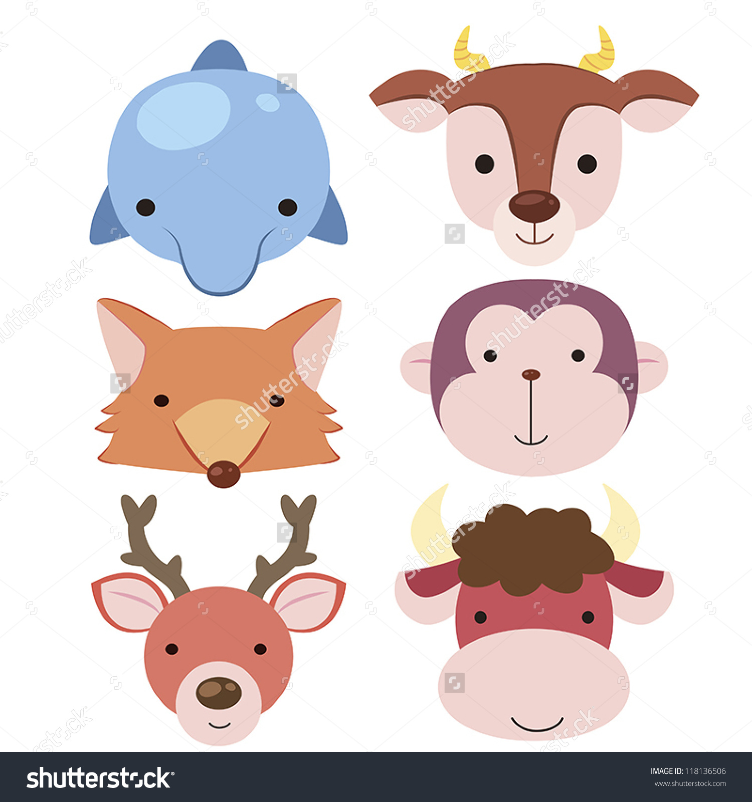 Cute animated animals buddy icons