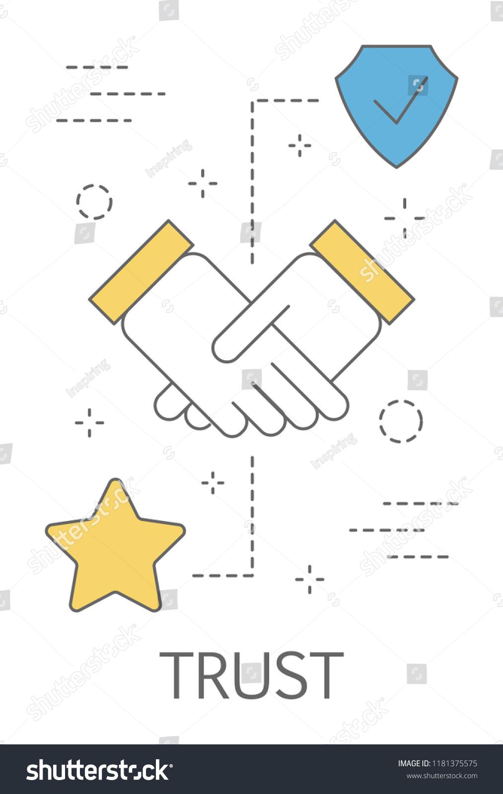 Trust Concept Handshake Symbol Loyalty Honesty Stock Vector Royalty