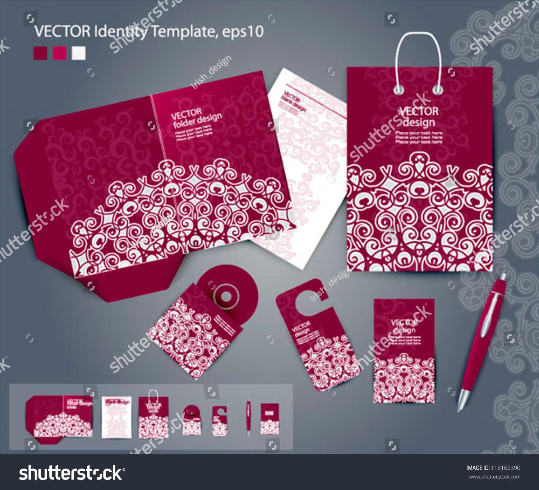 Vector Corporate Design Business Artworks Folder Stock Vector