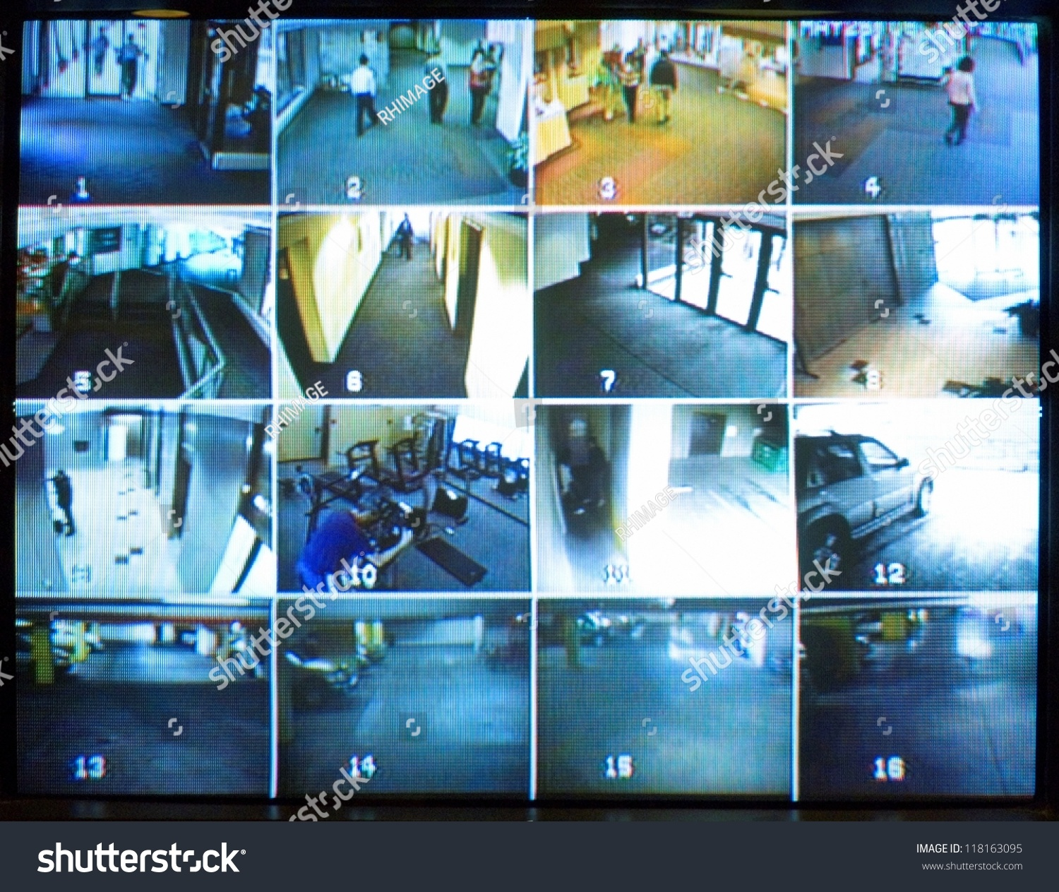 Security Camera Monitor Stock Photo 118163095 Shutterstock