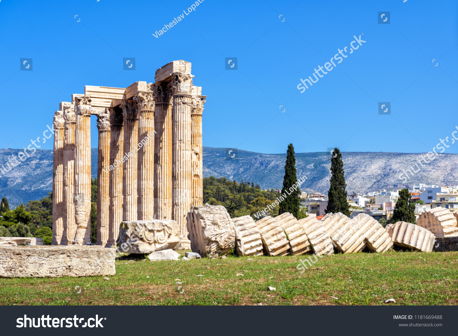 Temple Olympian Zeus Athens Greece Antique Stock Photo Edit Now