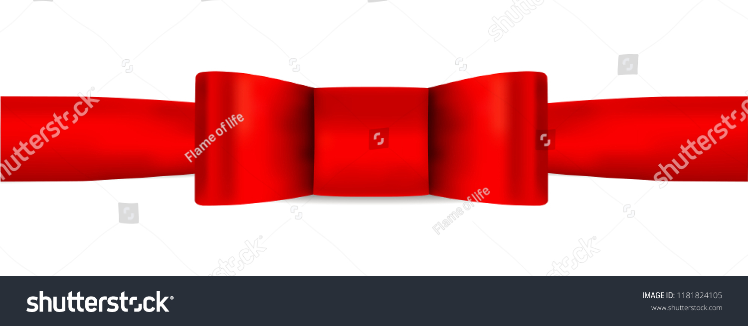 Red Bow Tie Red Ribbon Holiday Stock Vector Royalty Free