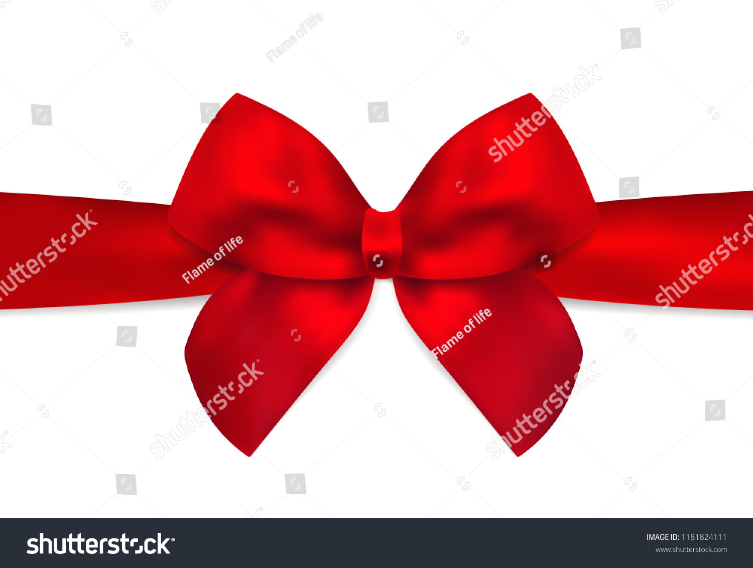 Red Bow Red Ribbon Holiday Christmas Stock Vector Royalty Free