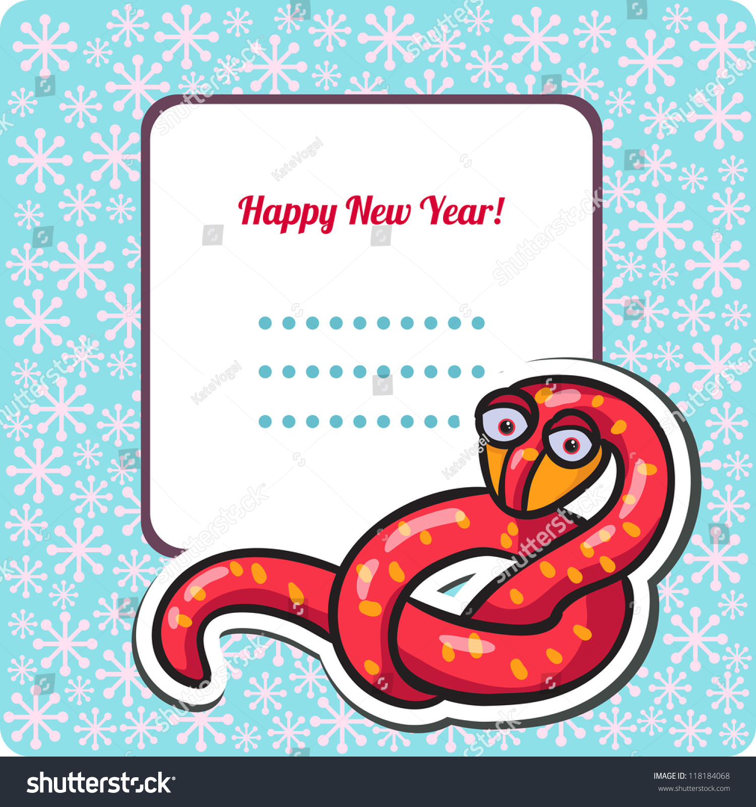 Funny new years eve greeting card stock vector 118184068 shutterstock funny new years eve greeting card with snake happy new year illustration year of m4hsunfo