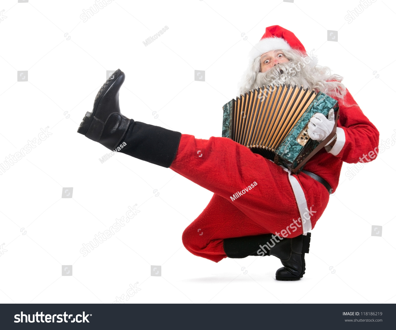 Russian dance isolated on a white background christmas concert