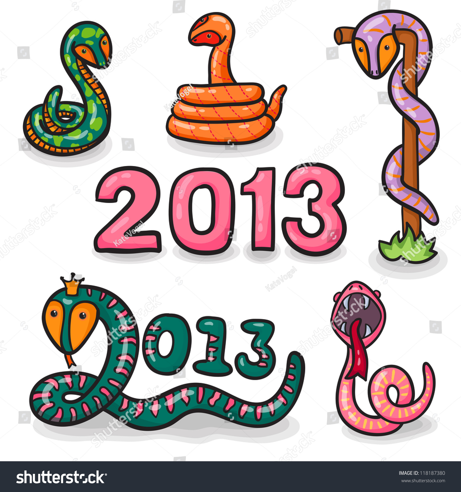 Funny New Years Eve Greeting Card Stock Vector 118187380 - Shutterstock
