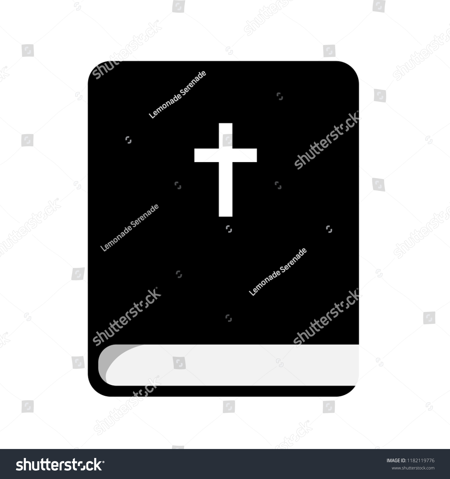 Holy Bible Flat Icon Book Christian Stock Vector Royalty Free