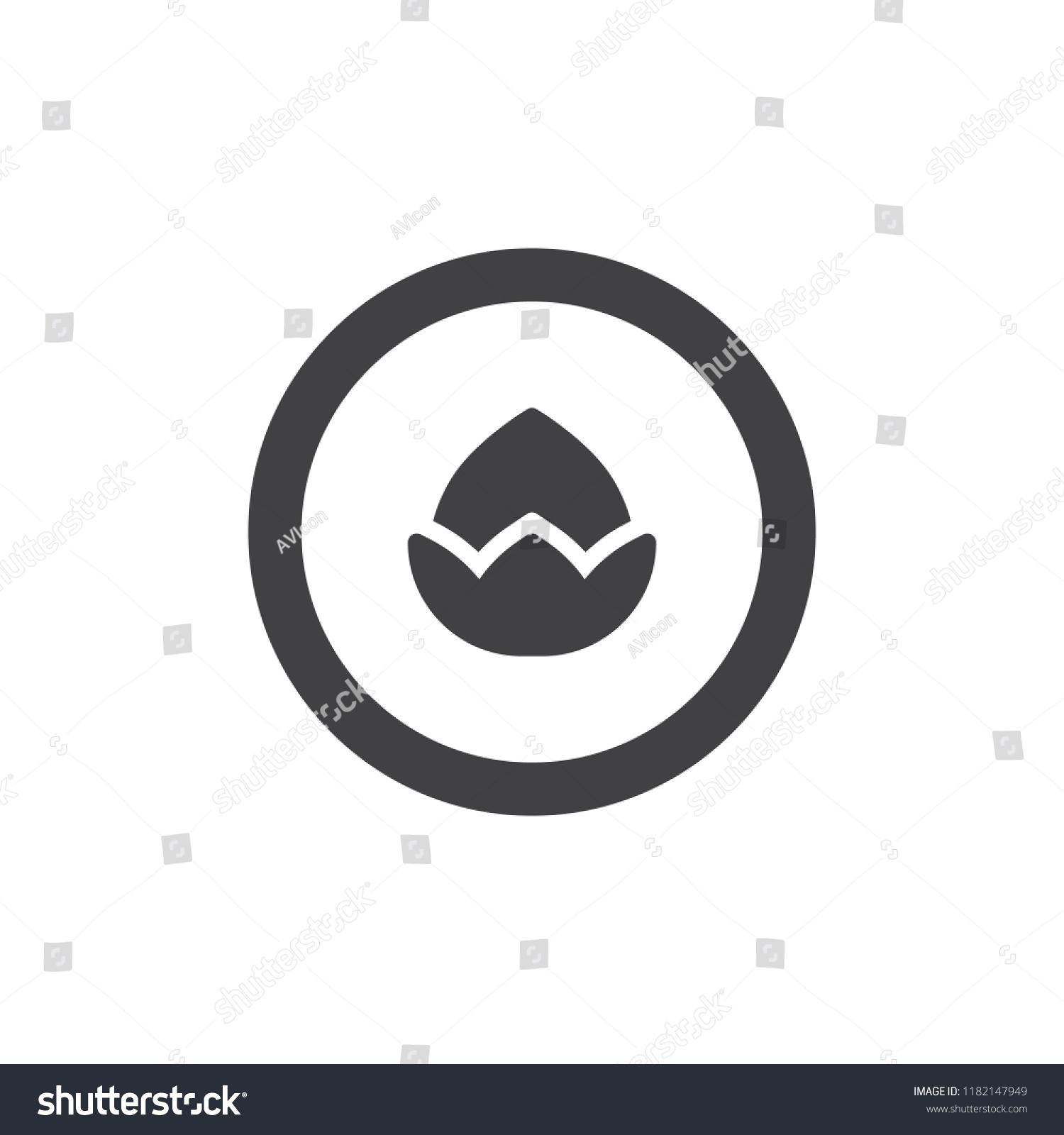 Hazelnut Circle Vector Icon Filled Flat Stock Vector
